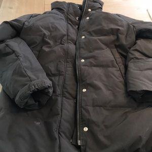 Banana republic black puffy coat